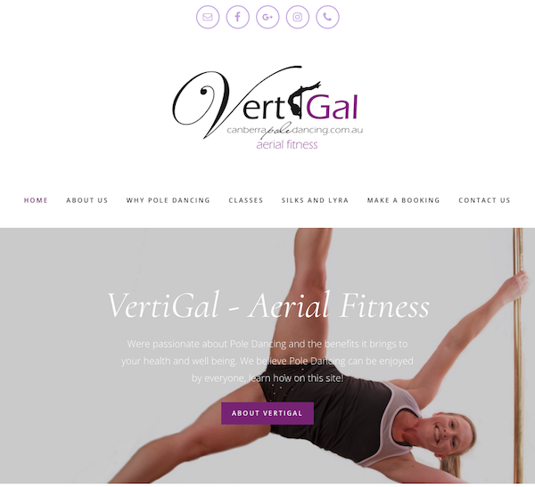 Image of the VertiGal Website Homepage